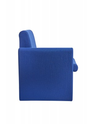 Alto modular reception seating with right hand arm - blue