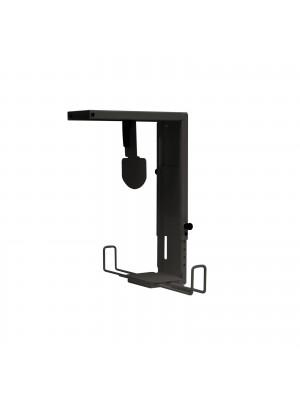 Large under desk CPU holder - black