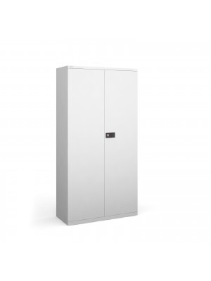 Steel contract cupboard with 3 shelves 1806mm high - white