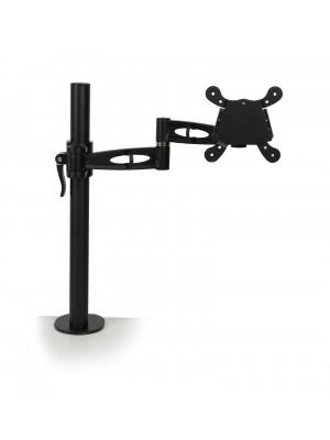 Single flat screen monitor arm - black