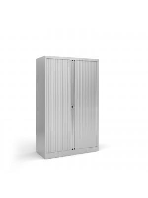 Steel medium tambour cupboard 1570mm high - silver