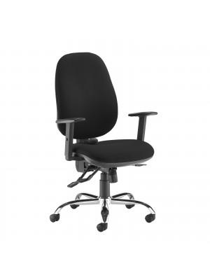 Jota ergo 24hr ergonomic asynchro task chair - black