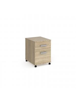 Magnum 2 drawer mobile pedestal - light oak