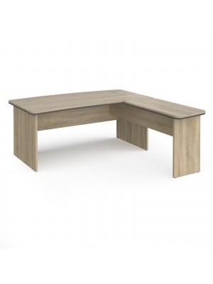 Magnum executive desk 1800mm x 900mm with 800mm return desk - light oak