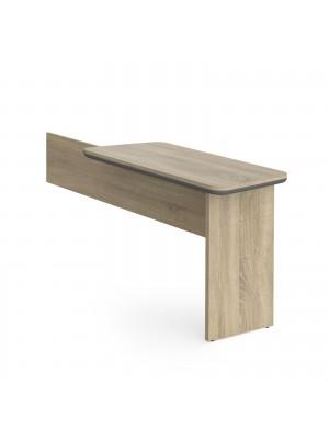 Magnum executive desk return 1120mm x 500mm -  light oak