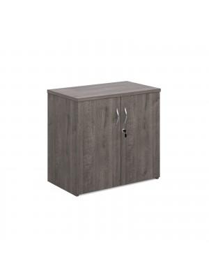 Universal double door cupboard 740mm high with 1 shelf - grey oak