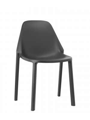 Remix plastic stackable cafe chair - antharcite