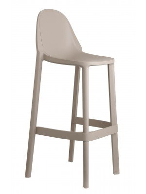 Remix plastic stackable cafe stool - cream