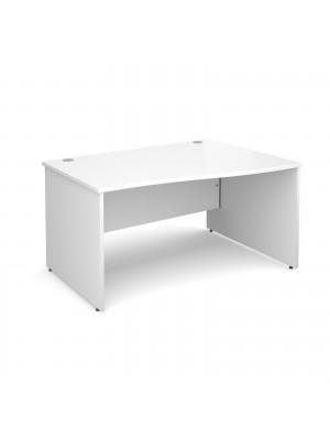 Maestro 25 PL right hand wave desk 1400mm - white panel leg design