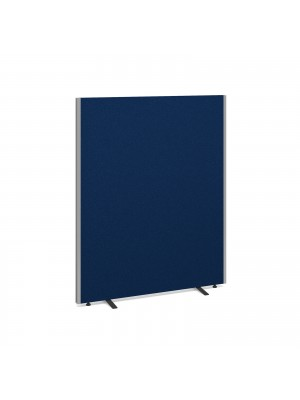 Floor standing fabric screen 1500mm x 1200mm - blue