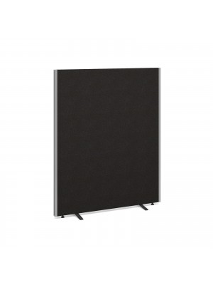 Floor standing fabric screen 1500mm x 1200mm - charcoal