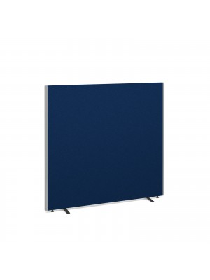 Floor standing fabric screen 1500mm x 1600mm - blue