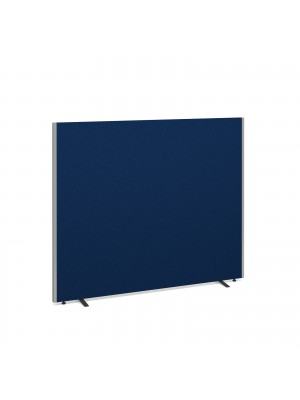Floor standing fabric screen 1500mm high x 1800mm wide - blue
