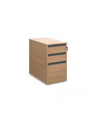 Maestro desk end 3 drawer pedestal 746mm deep - beech