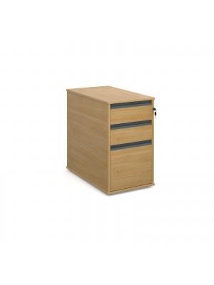 Maestro desk end 3 drawer pedestal 746mm deep - oak