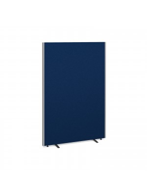 Floor standing fabric screen 1800mm high x 1200mm wide - blue