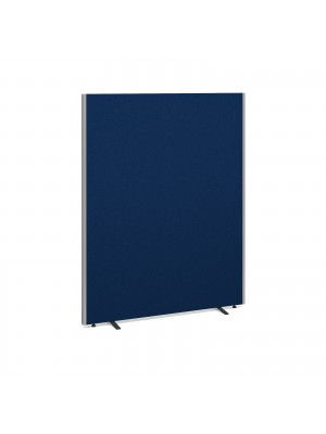 Floor standing fabric screen 1800mm high x 1400mm wide - blue
