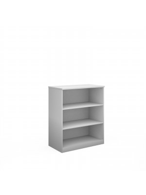 Deluxe bookcase 1200mm high with 2 shelves - white