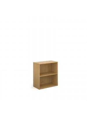 Contract double door cupboard 830mm high with 1 shelf - oak