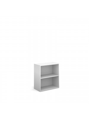 Contract double door cupboard 830mm high with 1 shelf - white