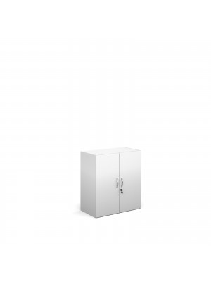 Contract bookcase 830mm high with 1 shelf - white