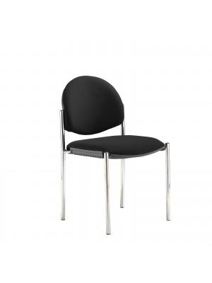 Coda multi purpose chair, no arms, black fabric