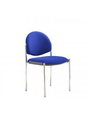 Coda multi purpose chair, no arms, blue fabric