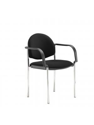 Coda multi purpose chair, with arms, black fabric