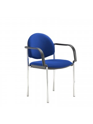 Coda multi purpose chair, with arms, blue fabric