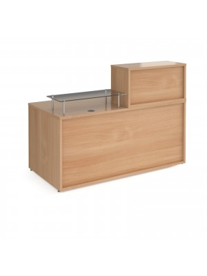 Denver medium straight complete reception unit - beech