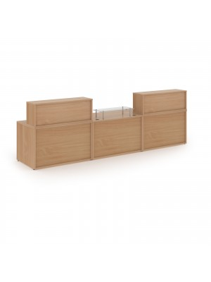 Denver large straight complete reception unit - beech