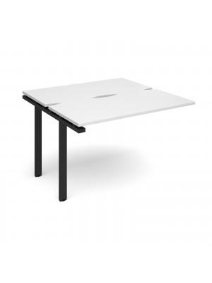 Adapt add on unit single 1200mm x 1200mm - black frame, white top