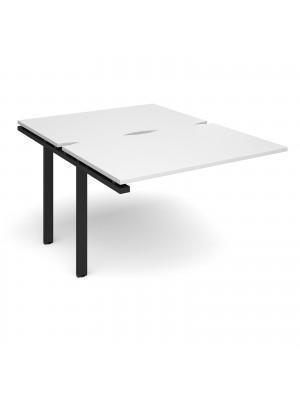 Adapt add on unit single 1200mm x 1600mm - black frame, white top