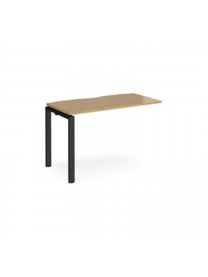Adapt add on unit single 1200mm x 600mm - black frame, oak top