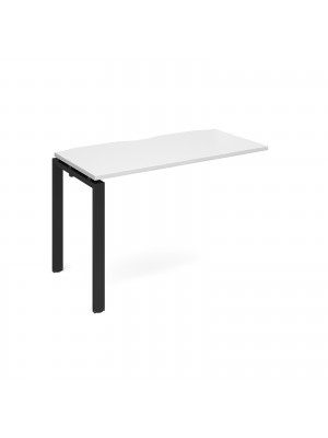Adapt add on unit single 1200mm x 600mm - black frame, white top