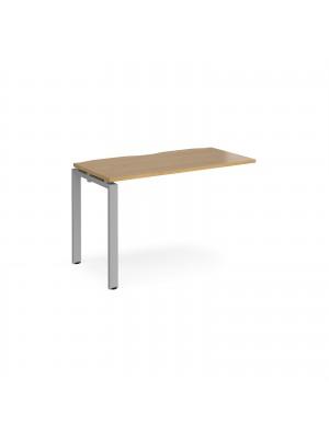 Adapt add on unit single 1200mm x 600mm - silver frame, oak top