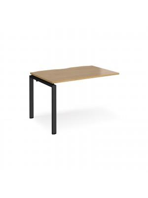 Adapt add on unit single 1200mm x 800mm - black frame, oak top