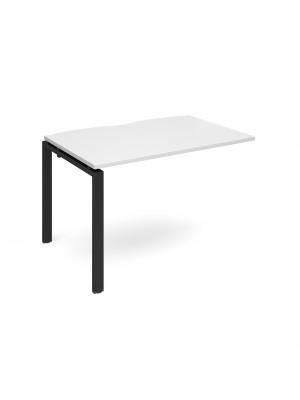 Adapt add on unit single 1200mm x 800mm - black frame, white top