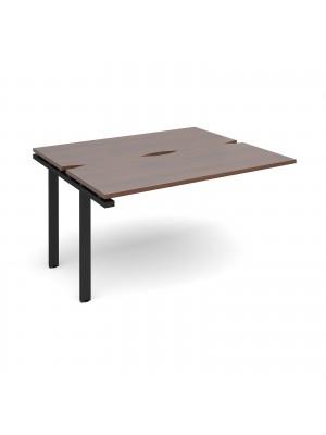 Adapt add on unit single 1400mm x 1200mm - black frame, walnut top
