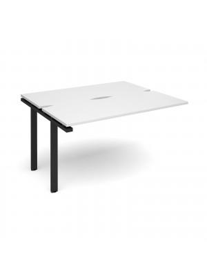 Adapt add on unit single 1400mm x 1200mm - black frame, white top