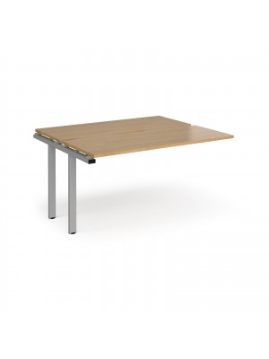 Adapt add on units back to back 1400mm x 1200mm - silver frame, oak top