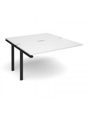 Adapt add on unit single 1400mm x 1600mm - black frame, white top