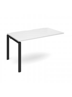 Adapt add on unit single 1400mm x 800mm - black frame, white top