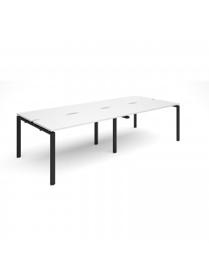 Adapt II double back to back desks 2800mm x 1200mm - black frame, white top