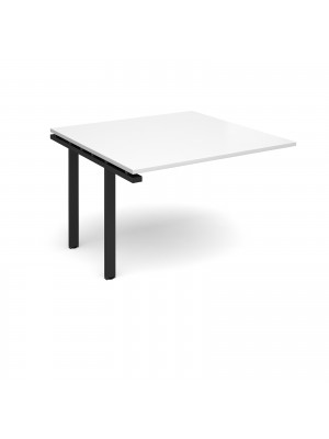 Adapt II boardroom table add on unit 1200mm x 1200mm - black frame, white top