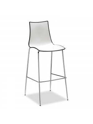 Gecko shell dining stool with chrome legs - anthracite