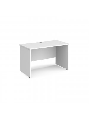 Maestro 25 straight desk 1200mm x 600mm - white top with panel end leg