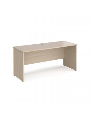 Maestro 25 straight desk 1600mm x 600mm - maple top with panel end leg