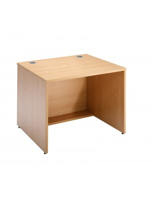 Denver reception straight base unit 800mm x 800mm - beech