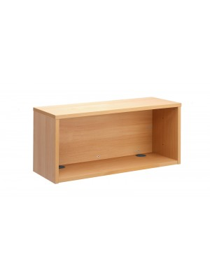 Denver reception straight hutch unit 800mm x 350mm - beech